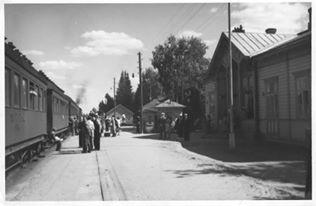 Alavuden juna-asema Haapamäelle päin