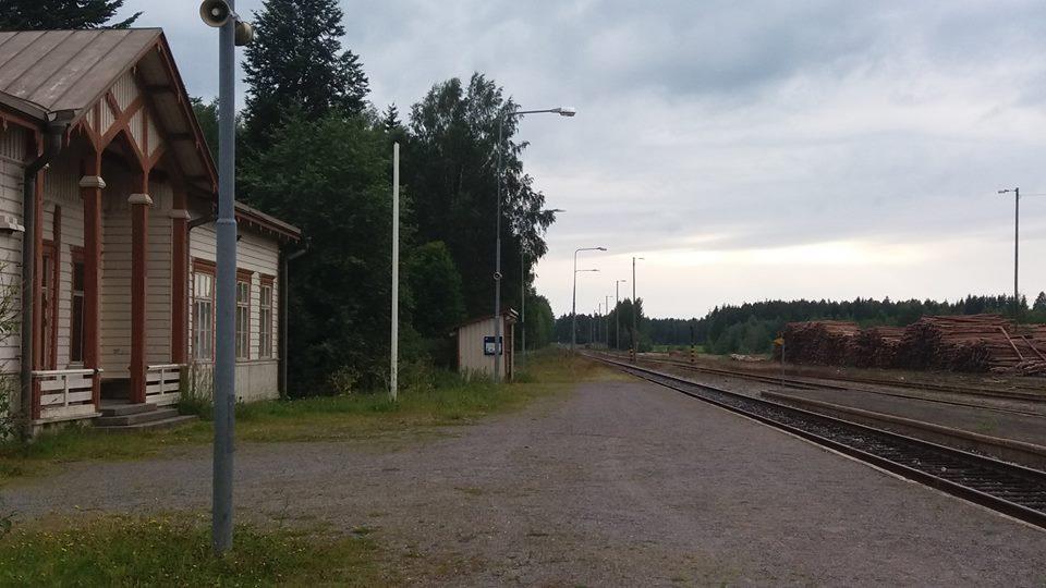 Alavuden juna-asema Seinäjoelle päin 2017
